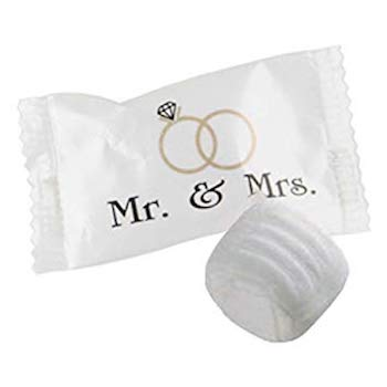 "Buttermints ""Mr. & Mrs."" Wrapped Mints"
