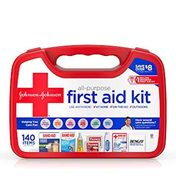 Johnson & Johnson All-Purpose Portable Emergency First Aid Kit