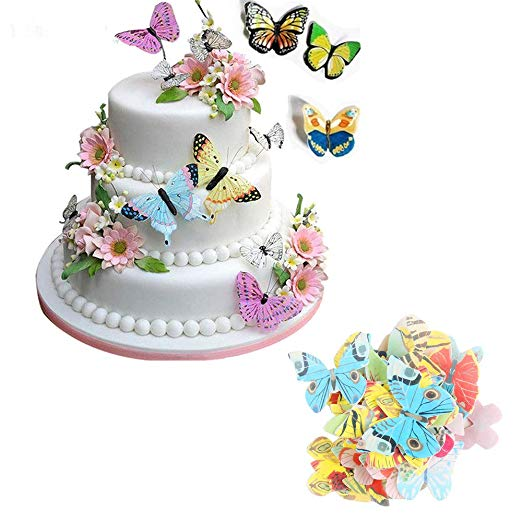 Mixed Butterflies in Edible Rice Paper