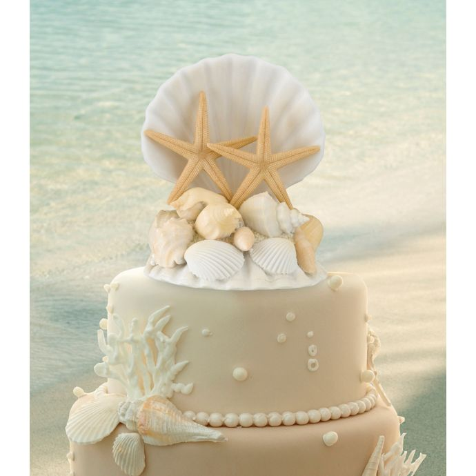 Lillian Rose Coastal Wedding Cake Topper