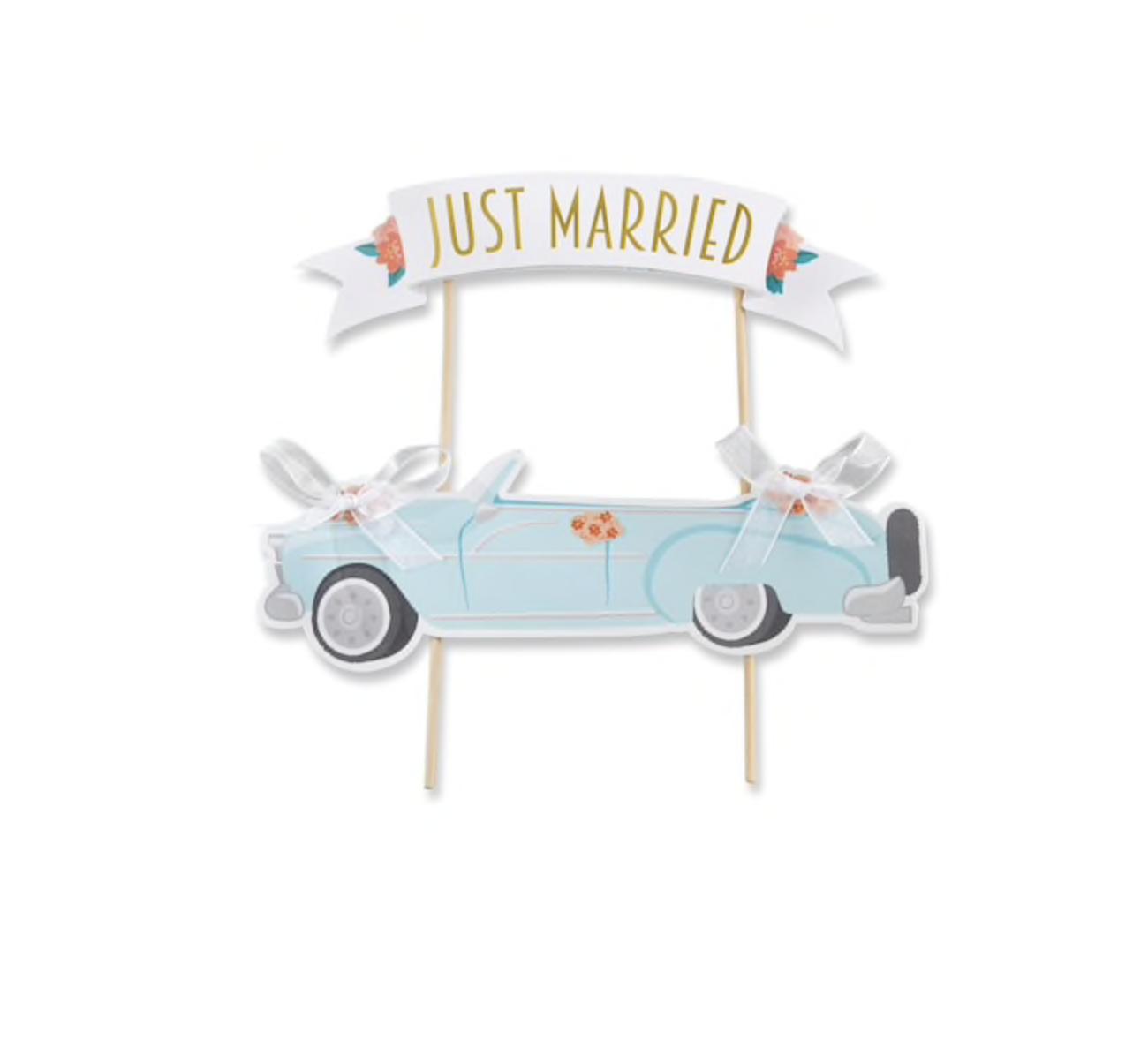 Kate Aspen Just Married Vintage Car Cake Topper