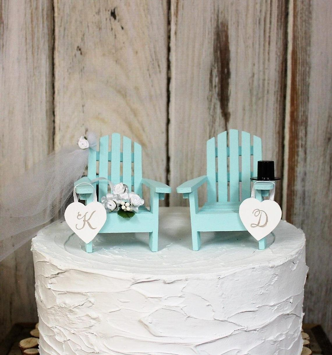 Custom Adirondack Chairs Wedding Cake Topper