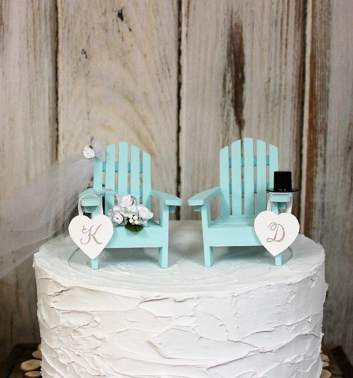 Custom Adirondack Chairs Wedding Cake Topper