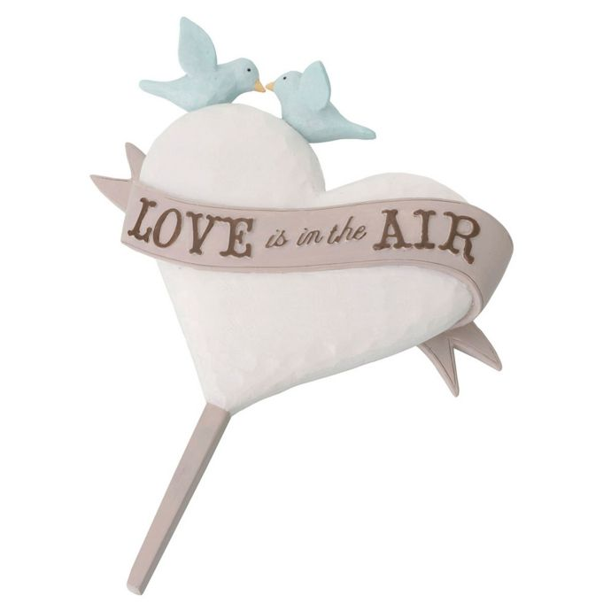 "Lillian Rose ""Love is in the Air"" Cake Topper"