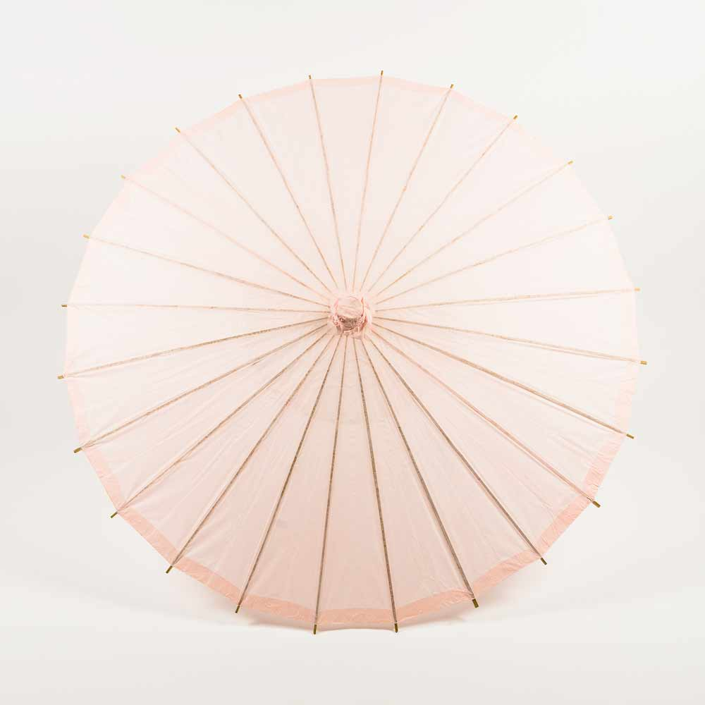 Chinese Rice Paper and Bamboo Parasol in Rose Quartz
