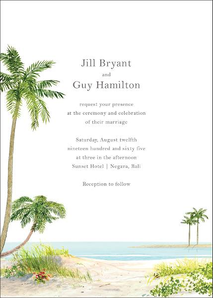 Key West Wedding Invitation