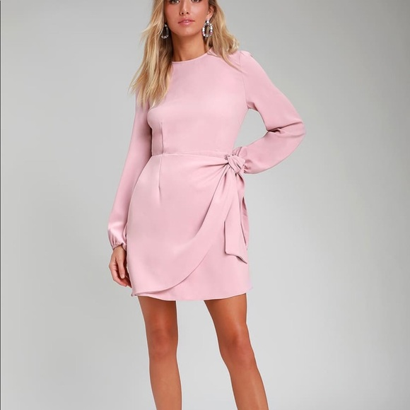 Believe It or Knot Rose Pink Tie-Front Dress
