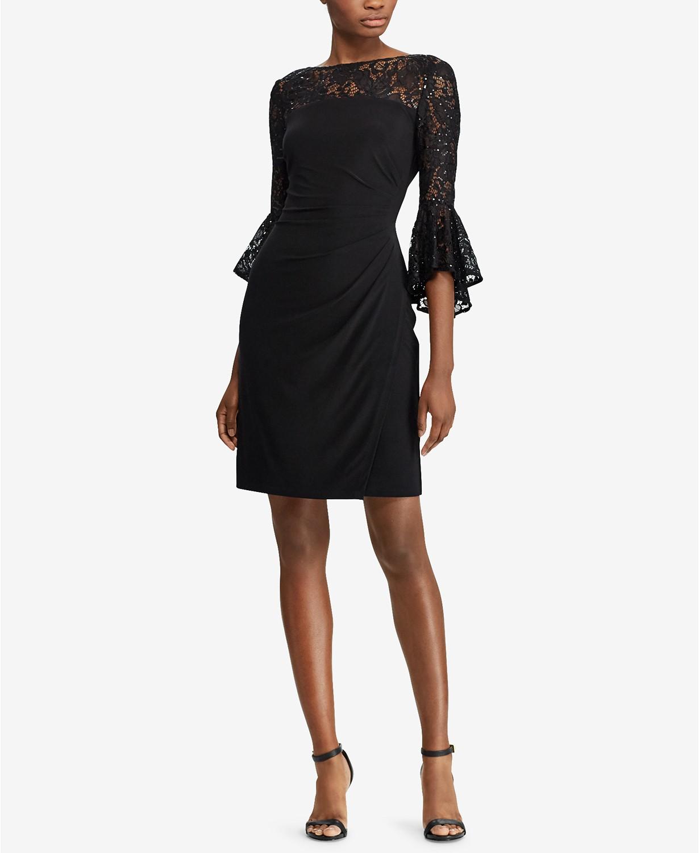 Ralph Lauren Lace Trim Dress