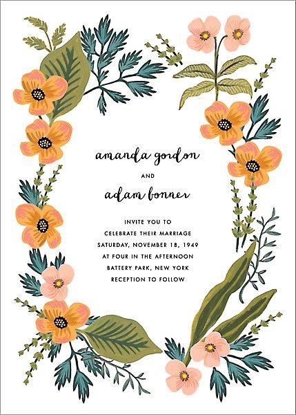Rifle Paper Co. October Herbarium Wedding Invitation
