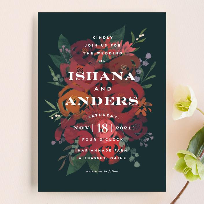 Wedding Invitations Midnight Garden