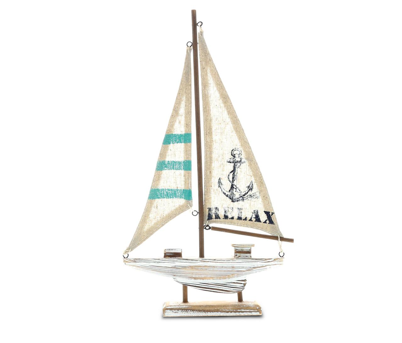 Nautical Decor CoTa Global Aquarius Sailboat Decorative Home Accent