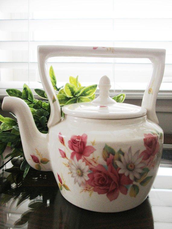 Mix & Match Antique Ceramic Teapots & Pitchers