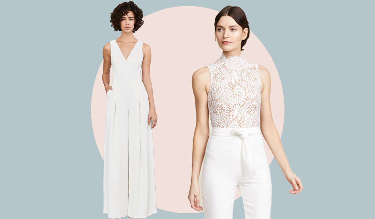 20 Gorgeous Wedding Jumpsuits for the Modern Bride   mywedding