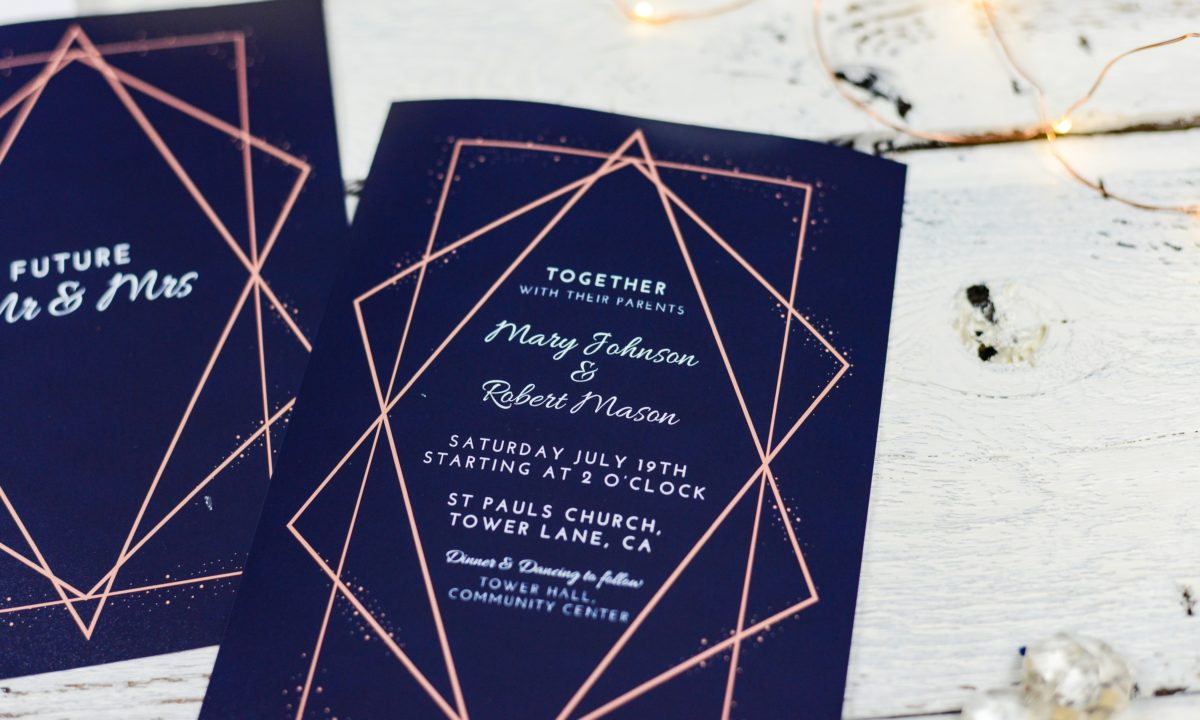 Modern & Simple Wedding Invitations