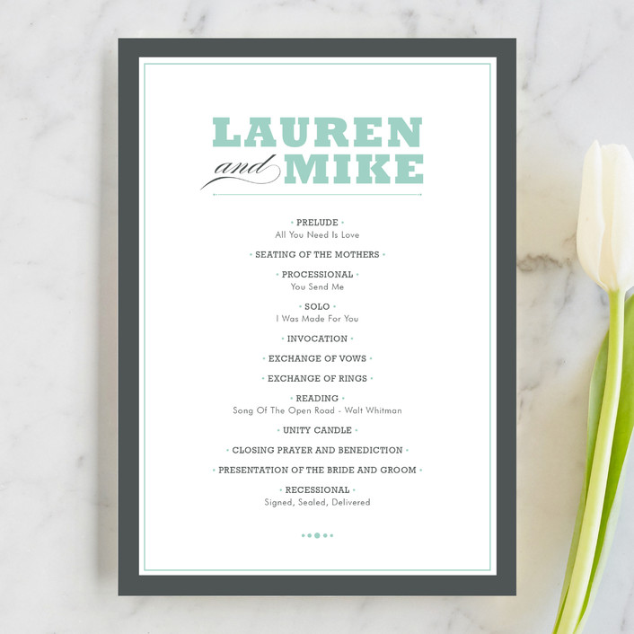 What Should Be In Your Wedding Program Plus 12 Of Our