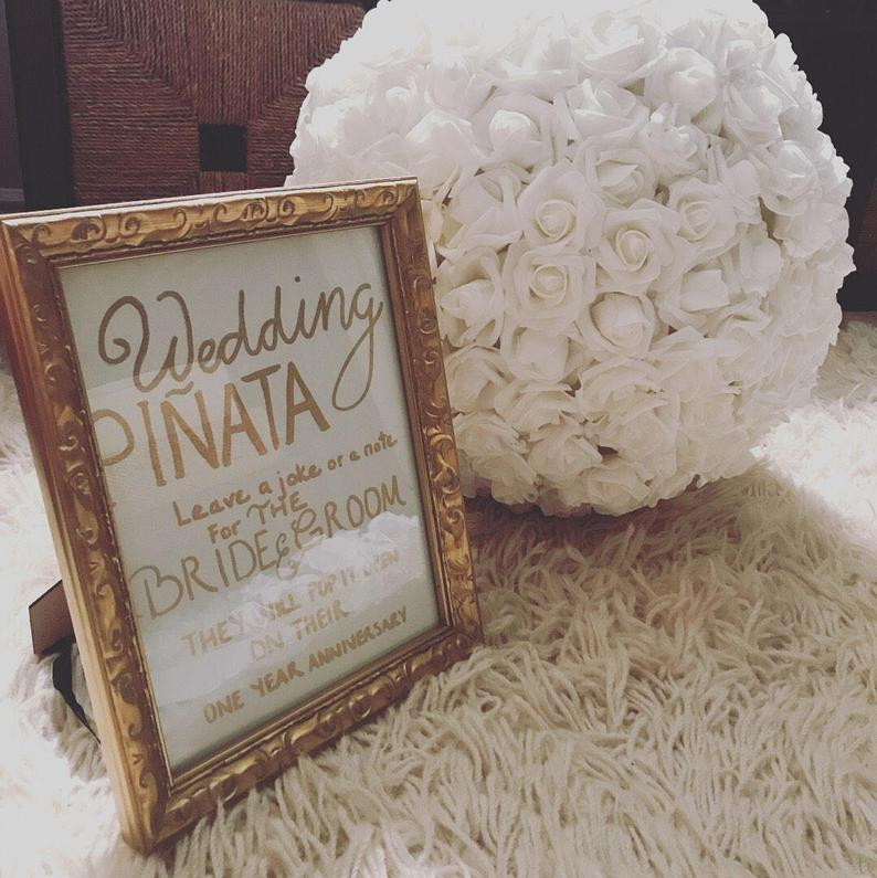 Baby Bahar Collection Wedding Pinata Pomander Guest Book Alternative