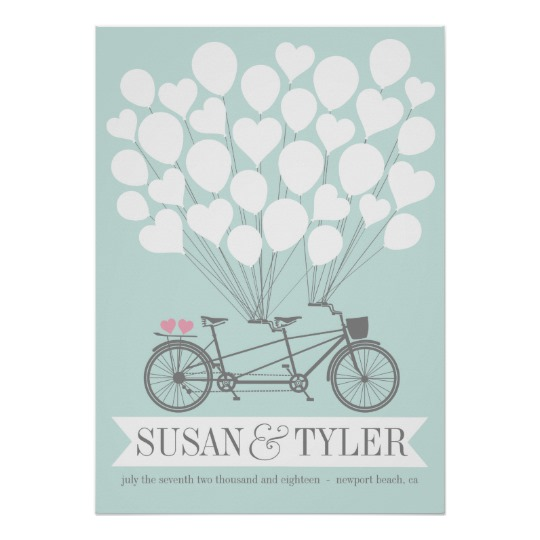 Bicycle Balloon Wedding Poster Designed by Key and Compass
