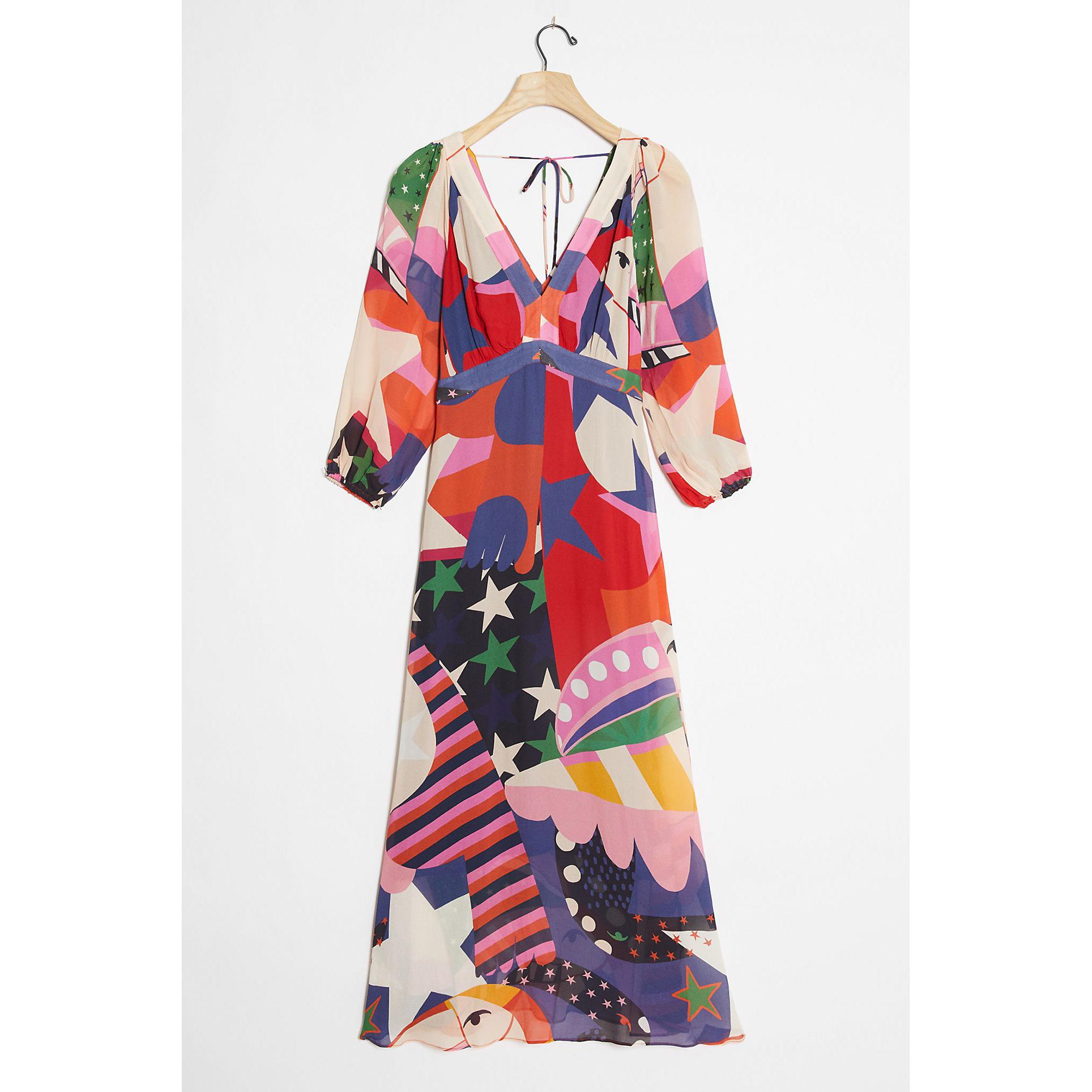 Farm Rio Viviana Ruffled Maxi Dress