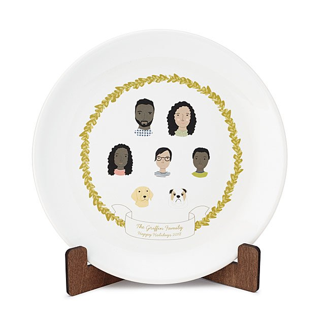 Uncommon Goods Personalized Family Portrait Plate