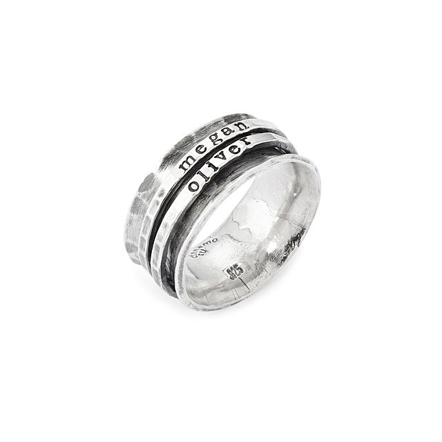 Uncommon Goods Hand-Stamped Personalized Spinner Ring