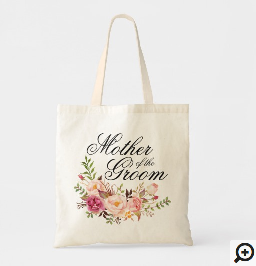 Elegant Rustic Floral Mother-of-the-Groom Tote Bag