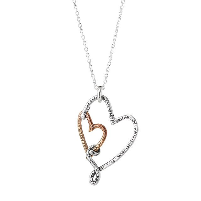 Uncommon Goods Heart to Heart Necklace