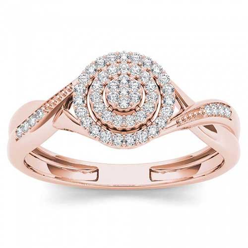 De Couer Rose Gold Diamond Ring