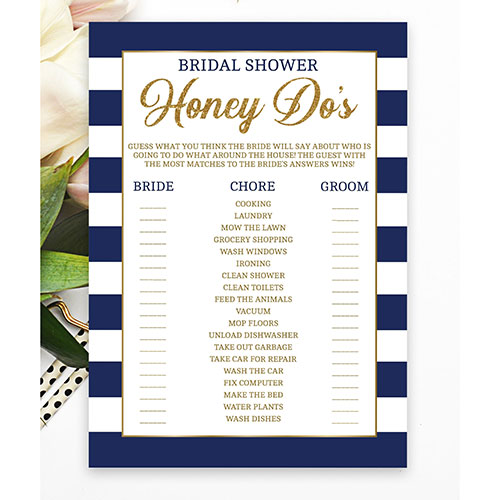 Hello Bride Paperie Honey Do, Bridal Chore Game