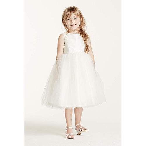 Dress with Tulle and Ribbon Waist