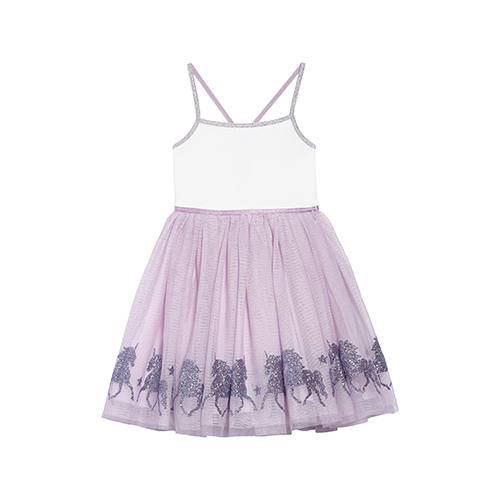 Zunie Glittery Unicorn Ballerina Dress