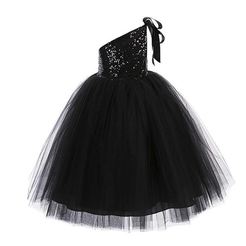 ekidsbridal One-Shoulder Sequin Tutu Dress