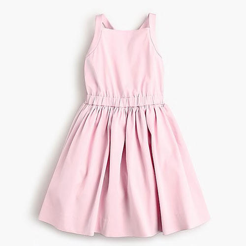J. Crew Girls' Bow-Back Dress in Stretch Faille