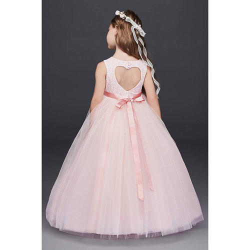 Ball Gown Dress with Heart Cutout