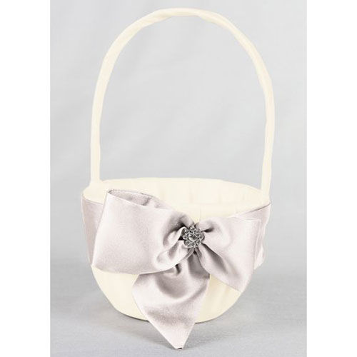David's Bridal Exclusive Regal Ties Flower Basket