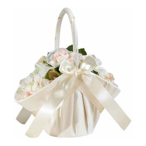 Lillian Rose Large Satin Flower Basket