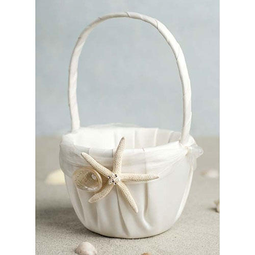 Starfish and Shell Beach Wedding Basket