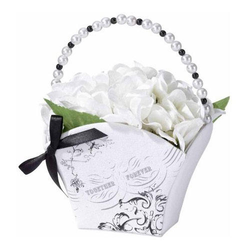 Lillian Rose White True Love Flower Bucket