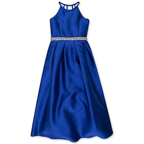 Speechless Embellished Satin Maxi Dress