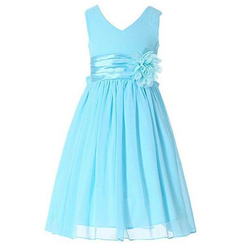 Bow Dream V-Neckline Chiffon Dress