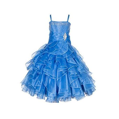 Ekidsbridal Rhinestone Layered Organza Dress
