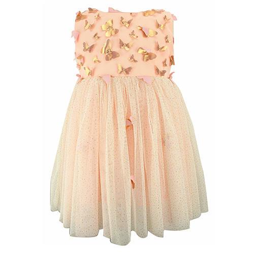 Popatu Butterfly Appliqué Tulle Dress