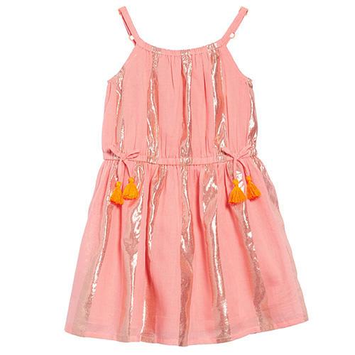 Mini Boden Shimmer Stripe Dress