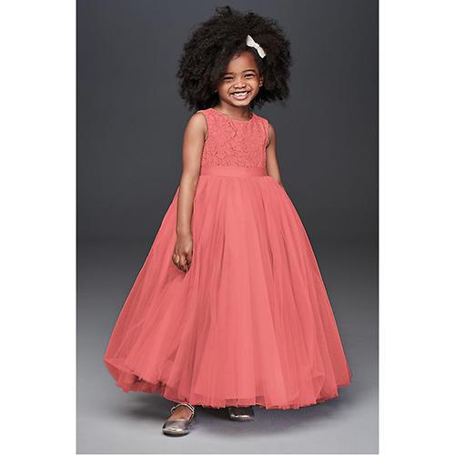 Heart Cutout Ball Gown Flower Girl Dress