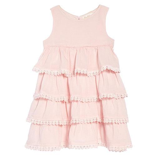 Mini Boden Tiered Lace Trim Dress