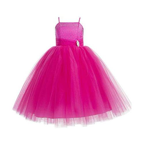 Ekidsbridal Rhinestone Tulle Tutu Formal Flower Girl Dress