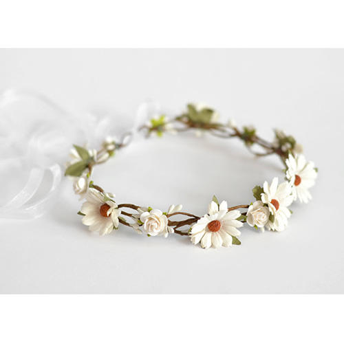 Lucky Kids Handmade White Daisy Flower Crown