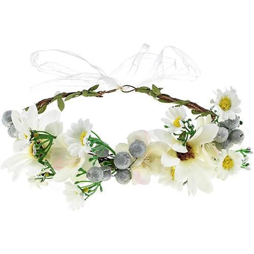 DDazzling Green Leaf Eucalyptus Flower Girls Floral Crown