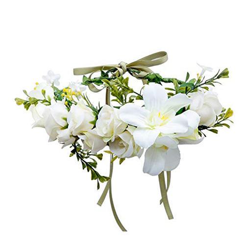 AWAYTR Bohemia Big Lilies Floral Crown