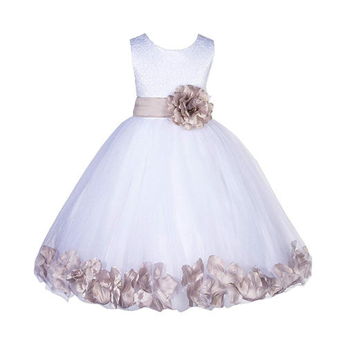 Ekidsbridal Lace Top and Tulle Skirt Dress