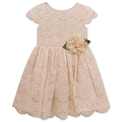 Rare Editions Sequin Lace Toddler Dress